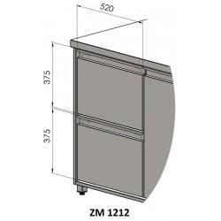 Doplnok: Zásuvkový 2 blok - symetrický