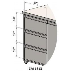 Doplnok: Zásuvkový 3 blok - symetrický