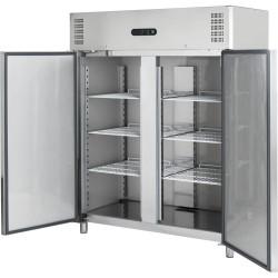 Dvojdverová nerezová chladnička 1400 l
