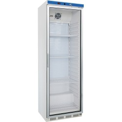 Biela chladnička s presklenýmí dvierkami EKO 350 l