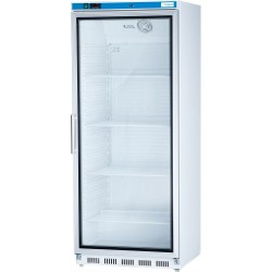 Biela chladnička s presklenýmí dvierkami EKO 600 l