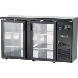 Presklený barový chladiaci pult 350l