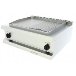 Elektrická grilovacia platňa 1/3 ryhovaná, stolná