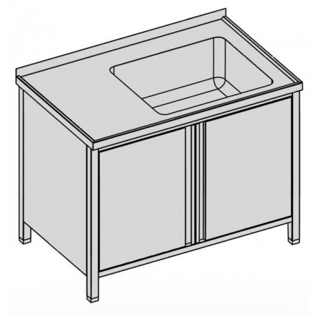 Umývací stôl krytý s vaňou s krídlovými dverami