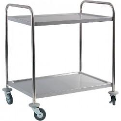 Dvojpolicový transportný vozík