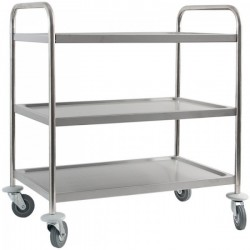 Trojpolicový transportný vozík