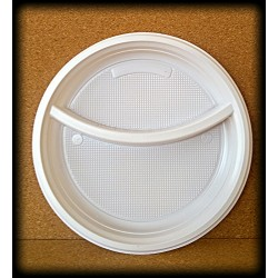 Tanier 22 cm dvojdielný biely - plast