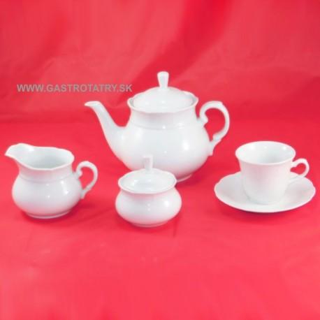 Čajová súprava biela 17 D