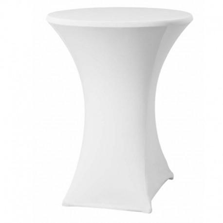 Cateringový poťah na okrúhly stôl - vysoký - biely