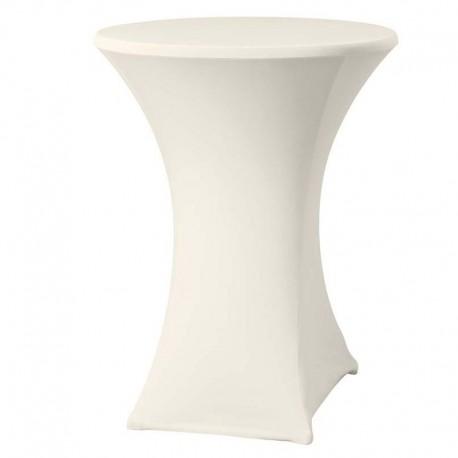 Cateringový poťah na okrúhly stôl - vysoký - krémový