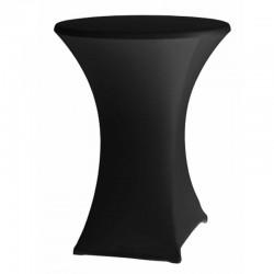 Cateringový poťah na okrúhly stôl - vysoký - čiermy