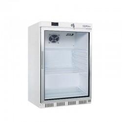 Chladnička podpultová biela, presklená, HR-200G