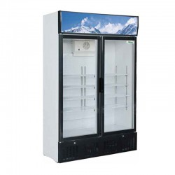 Presklená dvojdverová chladnička 620 l