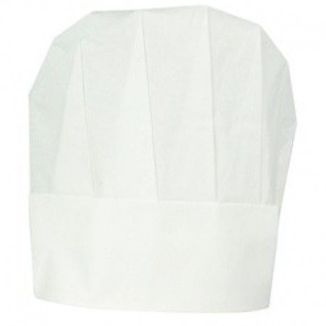 Kuchárska čapica papierová Excellent biela