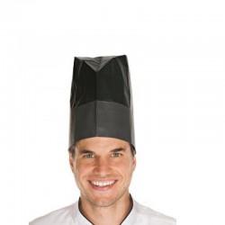 Kuchárska čapica papierová Excellent čierna