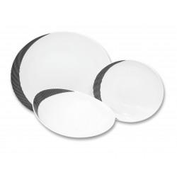 Loos čierne pruhy tanierová súprava 18 D