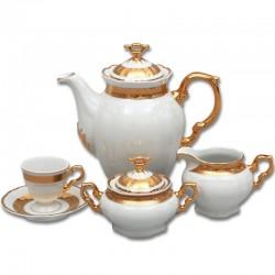 Zlato biela kávová súprava 17 D