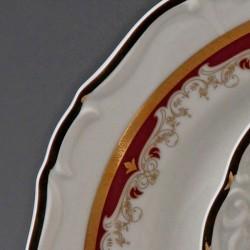 Červeno - zlatá tanierová súprava 18 D