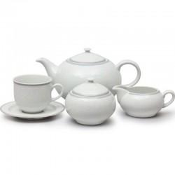 Čipka sivá čajová súprava 17 D