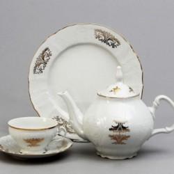 Čajová súprava biela zlat. ornament 17 D
