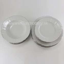 Damašek + platinová linka 18 D tanierová súprava