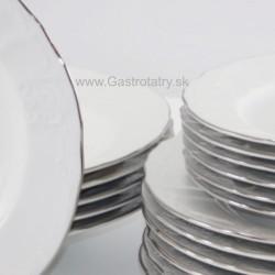 Biela platinová linka 18 D tanierová súprava