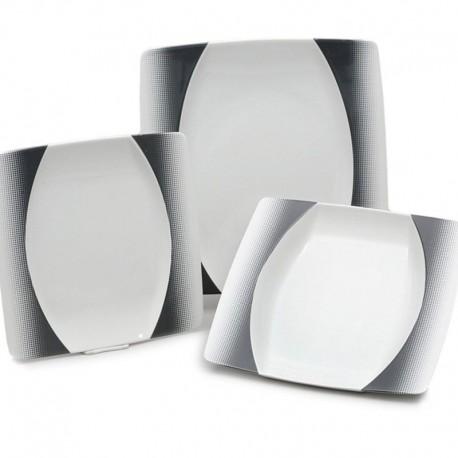 Eye čierno sivý dekor tanierová súprava 18 D