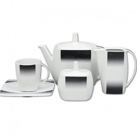 Eye čierno sivý dekor čajová súprava 17 D