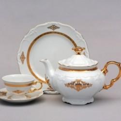 Zlatý dekor čajová súprava 17 D