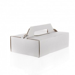 Krabica na zákusky 270x180x80 mm vlnitá H/B