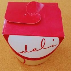 Papierový box 750 ml červený