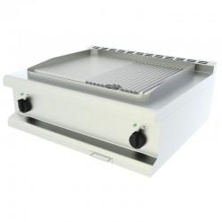 Elektrická grilovacia platňa 1/3 ryhovaná, stolná 80 cm