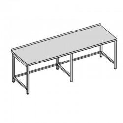 Pracovný stôl bez police dlhý