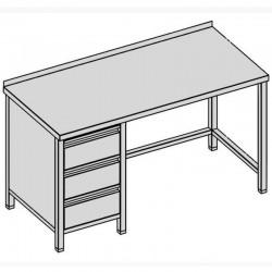Pracovný stôl s tromi zásuvkami 220x70