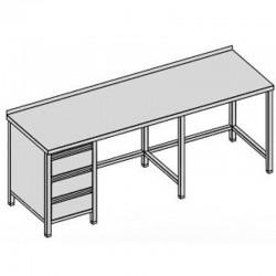 Pracovný stôl s tromi zásuvkami dlhý 250x80