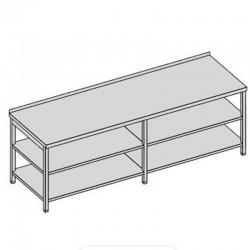 Pracovný stôl s dvomi policami dlhý