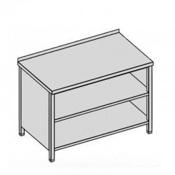 Pracovný stôl s krytom a 2-mi policami 60x60