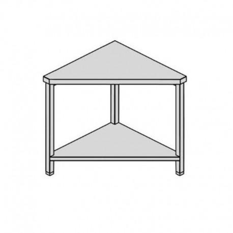 Pracovný stôl rohový s policou