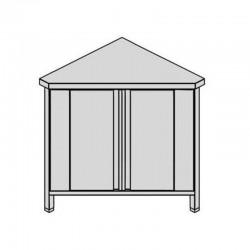 Pracovný stôl rohový s krídlovými dverami