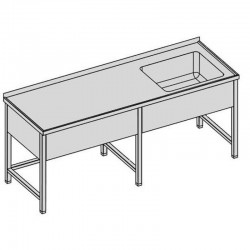 Umývací stôl s vaňou a krytom dlhý