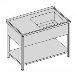 Umývací stôl s vaňou, krytom a policou