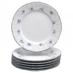 BERNAOTTE modrý kvet + modrá linka tanierová súprava 18 D