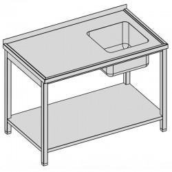 Umývací stôl s drezom a policou 80x60