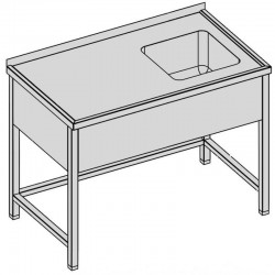 Umývací stôl s krytým drezom