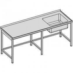 Umývací stôl s vaňou dlhý