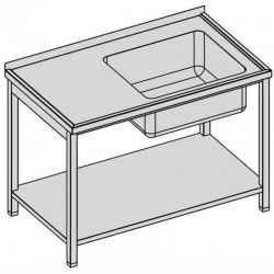 Umývací stôl s vaňou a policou