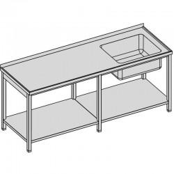 Umývací stôl s vaňou a policou dlhý
