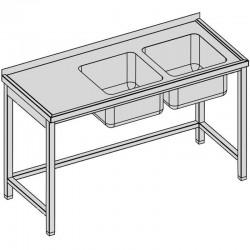 Umývací stôl s dvomi drezmi