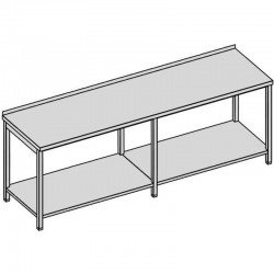 Pracovný stôl s policou dlhý