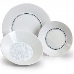 Lea tanierová súprava 18 D - bodky a trojuholníčky